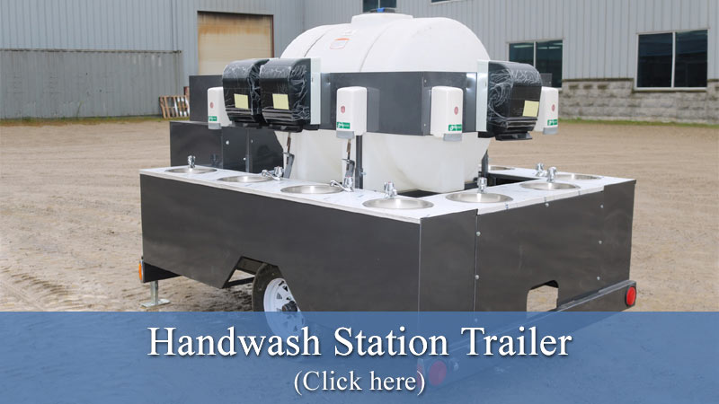 Hand Wash Station Trailer - Click here