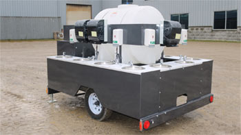 Hand wash station trailer